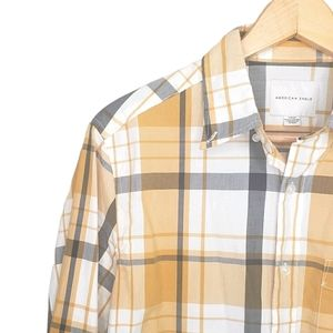 🎉HP🎉 American Eagle Yellow Button-down Plaid Top